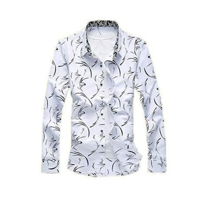 シャツ メンズ 長袖 ワイシャツ アロハシャツ カジュアルシャツ 通気 オシャレ 通勤 通学 大きいサイズ おしゃれ M~7XL (M dx