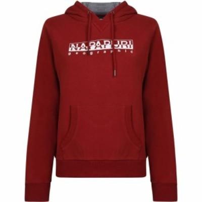ナパピリ Napapijri レディース パーカー トップス Hooded Sweatshirt Old Red