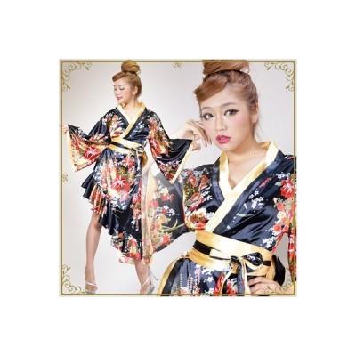 cwa13-lon 0013 4246/帯付き花魁和柄ロングドレス/和柄 ドレス/和柄 ワンピース/花魁 衣装/花魁 ドレス/花魁 コスプレ/花魁/