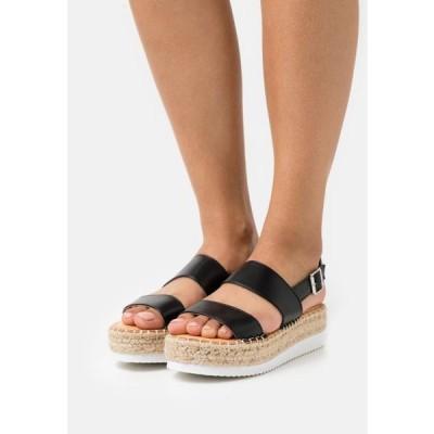 マッデンガール レディース 靴 シューズ BOARDWALK - Platform sandals - black paris