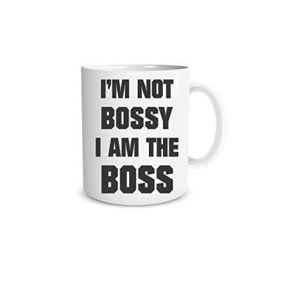 海外より出荷【並行輸入品】I'm Not Bossy I Am The Boss 11オンス 面白いコーヒーマグ、キュートなオフィス用サンキューギフト