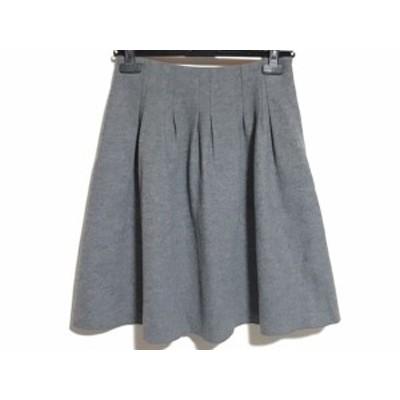 エムズグレイシー M'S GRACY スカート サイズ38 M レディース 美品 - グレー ひざ丈【中古】20210127