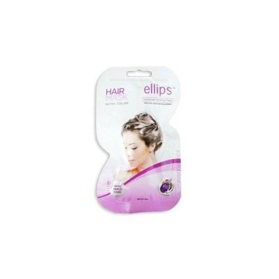 エリプス ヘアマスク カラーヘア用 紫 Ellips Hair Mask Dazzling Shine Action  3枚入り (3回分)