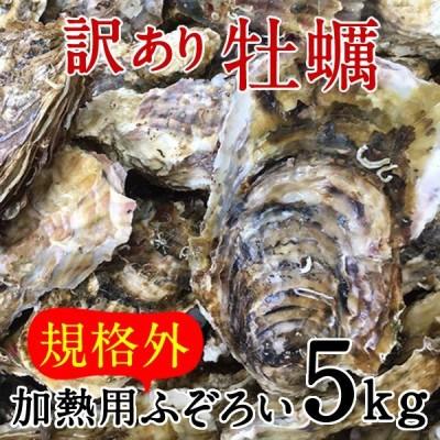 牡蠣 訳あり [規格外] 5kg 加熱用 殻付き牡蛎 漁師直送 カキ 生かき 三陸 宮城県産 ギフト