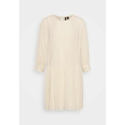 ヴェロモーダ レディース ワンピース トップス VMGIDGET 3/4 SHORT DRESS  - Day dress - birch birch