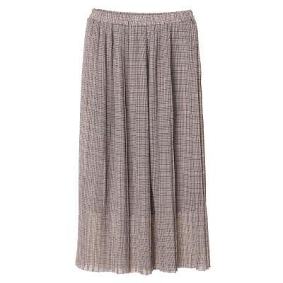 チェックプリントロングスカート