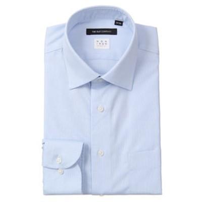 【NON IRON STRETCH】ワイドカラードレスシャツ 織柄 〔EC・BASIC〕