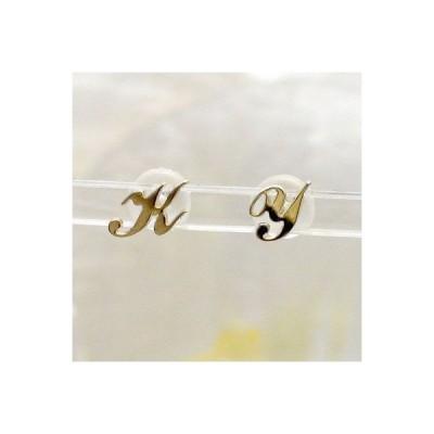 k10イニシャルピアス スタッドピアス 10金 セミオーダー レディース ジュエリー アクセサリー