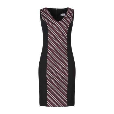 SUPPOSE ミニワンピース&ドレス ブラック S ポリエステル 95% / ポリウレタン 5% / レーヨン ミニワンピース&ドレス