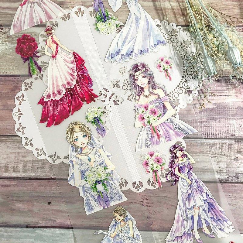 最閃耀的妳Shining Ladies-2-婚紗淑女PET霧透/和紙膠帶(含離型紙