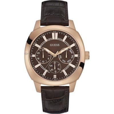 ゲス メンズ用腕時計 GUESS W0660G1, Men's Multi-Function Dress Sport, Leather Strap, Stainless Steel Case