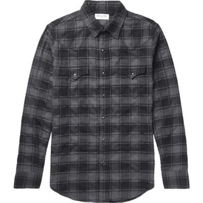 イヴ サンローラン SAINT LAURENT メンズ シャツ トップス Checked Shirt Steel grey