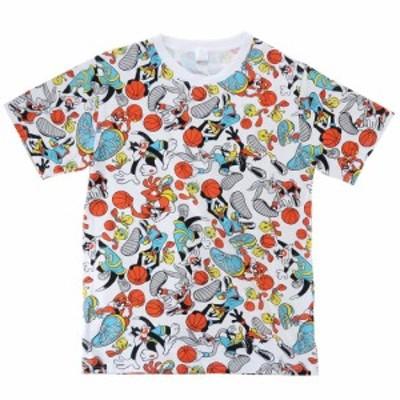 ルーニーテューンズ キャラクター Tシャツ T-SHIRTS バスケ 総柄 半袖 グッズ