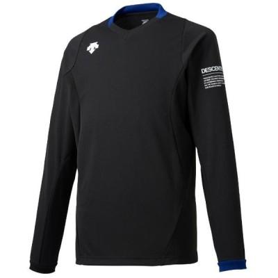 デサント 長袖ライトゲームシャツ(ユニセックス) ブラック×ブルー DSS-5910-BLK <2020CON>