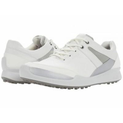 ECCO Golf エコー ゴルフ レディース 女性用 シューズ 靴 スニーカー 運動靴 Biom Hybrid I Hydromax(TM) White/Silver【送料無料】