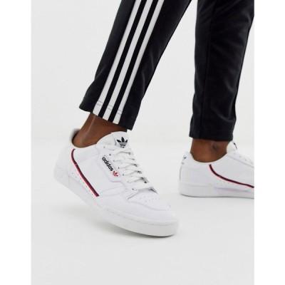 アディダス adidas Originals メンズ スニーカー シューズ・靴 Continental 80 Trainers White G27706 ホワイト