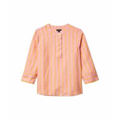 ジェイクルー レディース シャツ トップス Baude Linen Tunic Top in Bold Stripe Orange/Pink