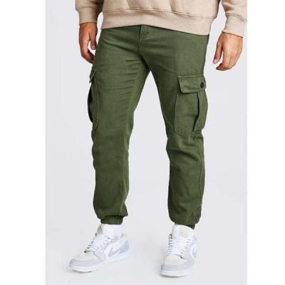 boohoo(ブーフー)BOOHOO ポッパー ポケット付き ツイル カーゴパンツ ジョガーパンツ スウェットパンツ インポートブランド