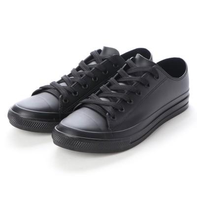 ブラッチャーノ Bracciano レインスニーカー メンズ ローカットシューズ 防水雨靴(BLACK)