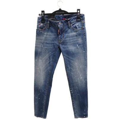 ディースクエアード DSQUARED2 レディース デニム パンツ ジーンズ Light Wash Medium Waist Cropped Twiggy Jean