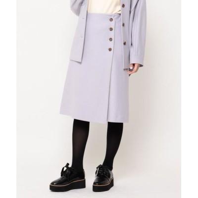Couture Brooch/クチュールブローチ ライトメルトンジャージラップスカート ライトパープル(081) 36(S)