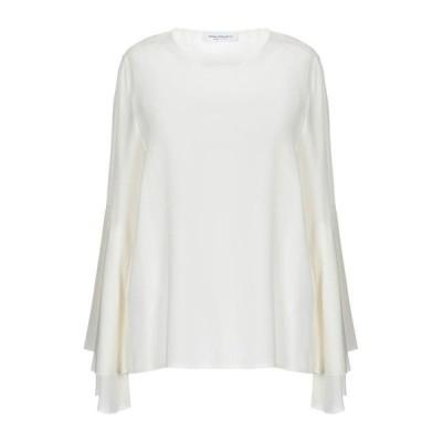 ANNA RACHELE シルクシャツ&ブラウス  レディースファッション  トップス  シャツ、ブラウス  長袖 ホワイト