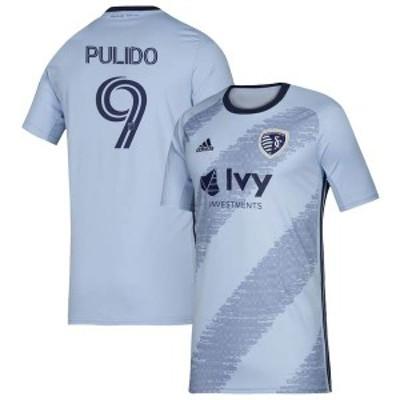 アディダス メンズ Tシャツ トップス Alan Pulido Sporting Kansas City adidas 2020 Primary Replica Player Jersey Sky Blue