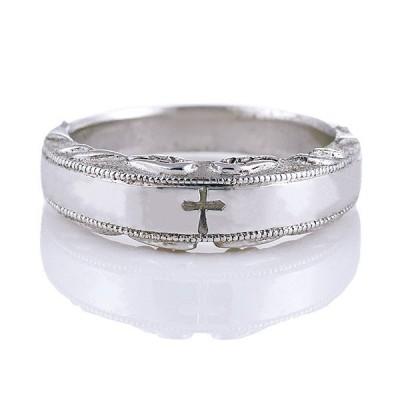 メンズ 指輪 リング シルバー クロス シンプル メンズ ペアリング 安い プレゼント【今だけ代引手数料無料】
