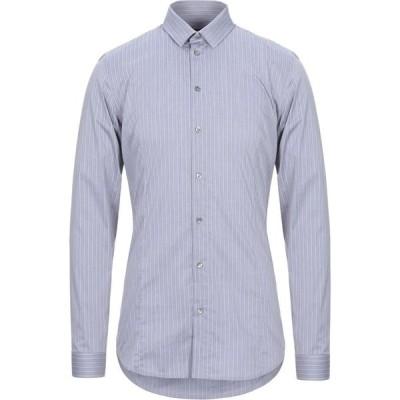 パトリツィア ペペ PATRIZIA PEPE メンズ シャツ トップス striped shirt Grey
