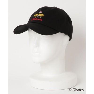 帽子 キャップ 【Disney/ディズニー/ミッキーマウス】キャラクター ワンポイント ローキャップ サーフボード サングラス 刺繍