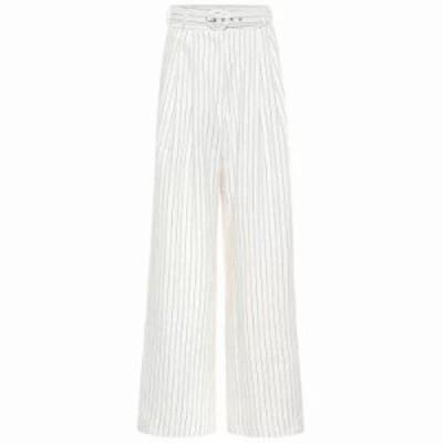 ジマーマン その他ボトムス・パンツ Corsage striped linen pants Natural Pinstripe