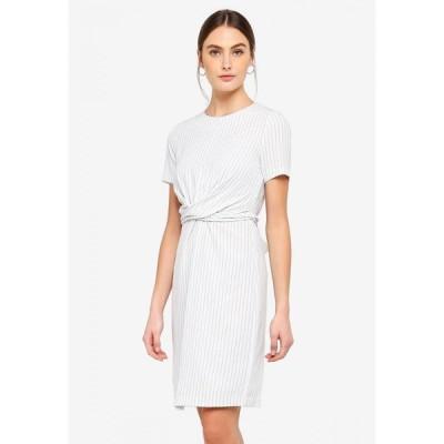 フォーキャスト FORCAST レディース ワンピース ワンピース・ドレス Caesar Twist Front Dress Ivory