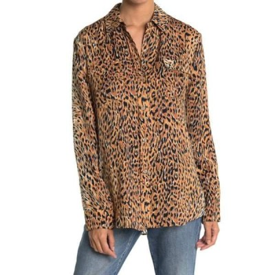 ル シュペルブ レディース シャツ トップス Walking Safari Button Front Shirt CHEETAH