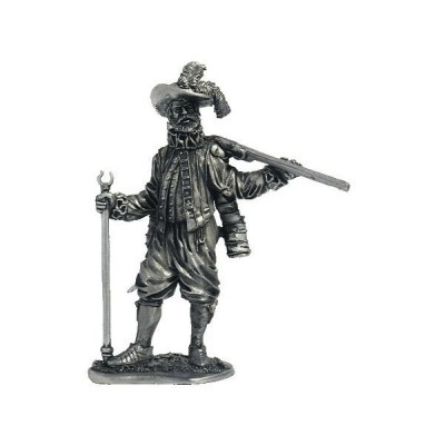 English Musketeer Veteran Tin Soldiers Metal Sculpture Miniature Figure Collection 54mm (Scale 1/32) (M13)[並行輸入品]