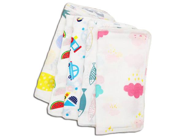 日系精巧花紋方巾(1入)【D021276】 款式隨機出貨