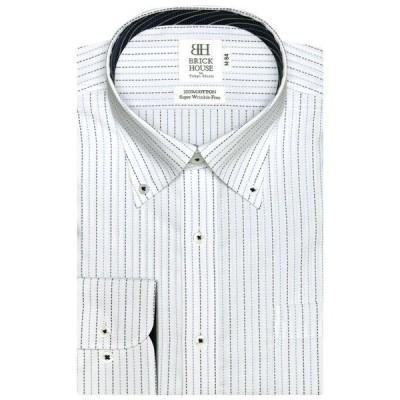 形態安定ノーアイロン ボタンダウンカラー 長袖ビジネスワイシャツ