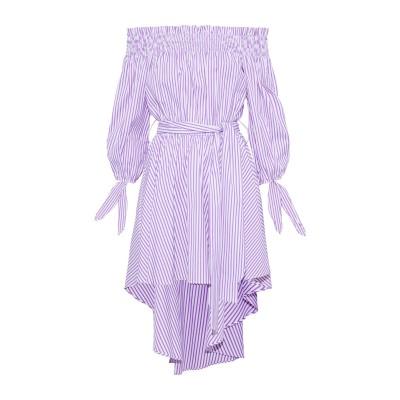 CAROLINE CONSTAS ミニワンピース&ドレス モーブ XS コットン 100% ミニワンピース&ドレス