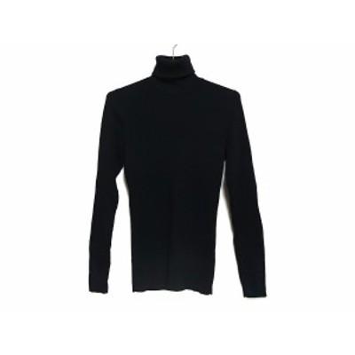 5351プールオム 5351 PourLesHomme 長袖セーター サイズ3 L レディース 黒 タートルネック【中古】20200802