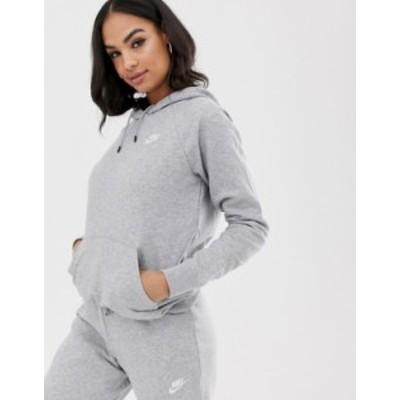 ナイキ レディース パーカー・スウェット アウター Nike Gray Essentials Hoodie Gray heather