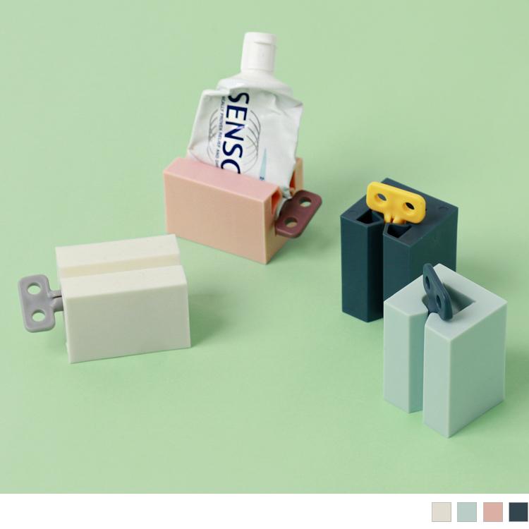 莫蘭迪色造型旋轉發條擠膏器