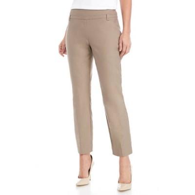 キム ロジャース レディース カジュアルパンツ ボトムス Women's Luxe Pull On Straight Leg Pants with Short Inseam