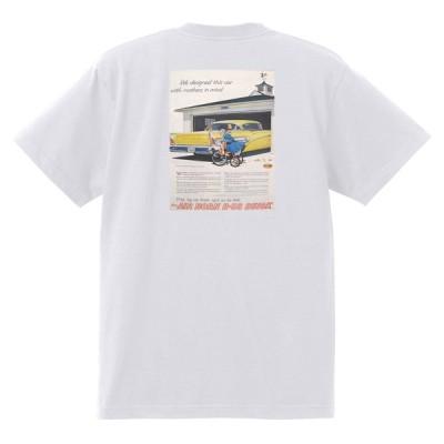 アドバタイジング ビュイック 262 白 Tシャツ 1958 エレクトラルセーブル インビクタ オールディーズ ローライダー