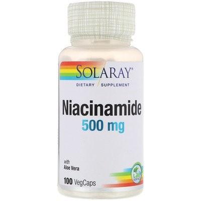 ナイアシンアミド、500mg、100ベジキャップ
