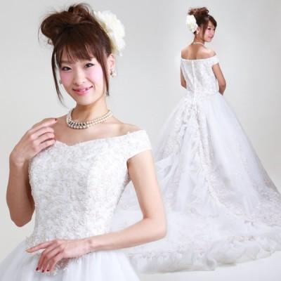 ウェディングドレス レンタル 13号-15号 プリンセスライン ウエディングドレス ドレス 貸衣装 海外挙式 海外ウェディング リモ婚 安い 格安 6415 送料無料