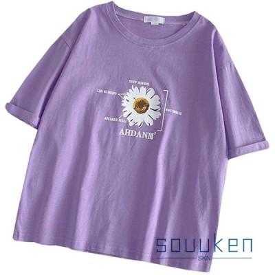 半袖 Tシャツ 綿 レディース 夏 クルーネック 大きいサイズ ゆったり 薄手 通気性 吸汗速乾 柔らかい ティーシャツ トップス BF風