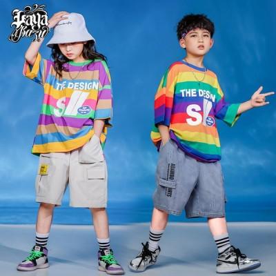 キッズ ダンス衣装 ヒップホップ キッズダンス ヒップホップ衣装 キッズ 韓国子供服 練習着 HIPHOP JAZZ DS キッズ 体操服