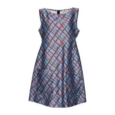 マルニ MARNI ミニワンピース&ドレス ブルー 42 ポリエステル 100% ミニワンピース&ドレス