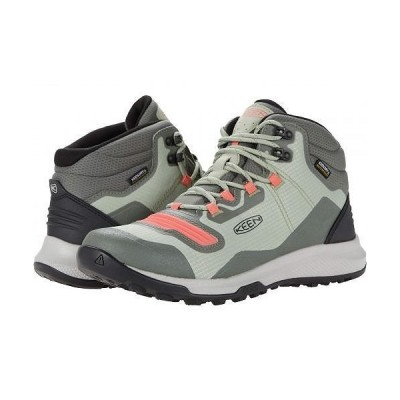 Keen キーン レディース 女性用 シューズ 靴 ブーツ ハイキング トレッキング Tempo Flex Mid WP - Castor Grey/Dubarry