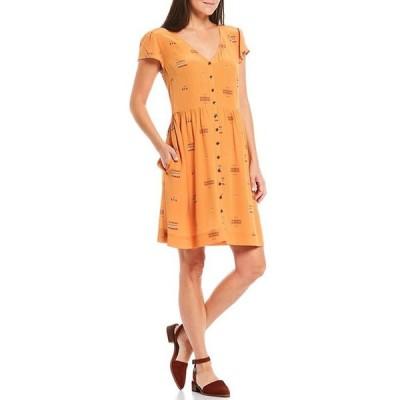 ペンドルトン レディース ワンピース トップス Graphic Geo Multi Print V-Neck Button Front Silk Dress