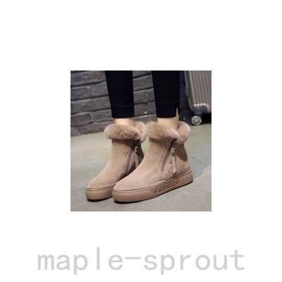 ムートンブーツ ショートブーツ レディース スノーブーツ マーティンブーツ 起毛ブーツ 裏起毛 ボア付き あったか 暖かい 美脚 防寒 滑り止め 冬 新作